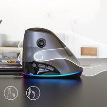 High Quality AJ307 Vertical Mouse USB Wired 4800DPI RBG Backlit Mice 7 keys Esport Gaming Mouse Ergonomic Side Rocker Mouse