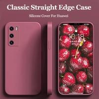 Чехол для Huawei P40 Lite, 4G, 5G, P40, P20, P30 Pro, Mate 20, 30, 40 Pro, Nova 5T, 3i, силиконовый Квадратный чехол для Honor 9A, 20, 30 Pro, чехол