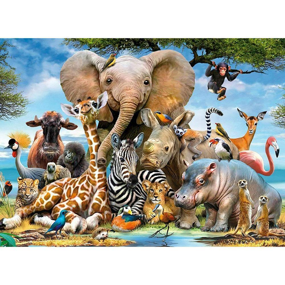 Серия «животные» Пазл 1000 деталей слон Обучающие игрушки, пазлы для детей океан мира Пазлы для взрослых Фигурки игрушки пазлы 1000 деталей сладости в венеции