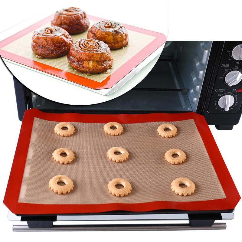 Almohadilla para hornear alfombrilla de silicona antiadherente hoja de hornear esterilla para masa de fibra de vidrio para pastel galleta macarrón herramientas de cocina