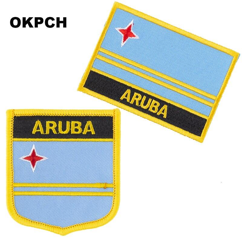 Parche de bandera de ARUBA 2 uds. Conjunto de parches para ropa DIY decoración PT0236-2