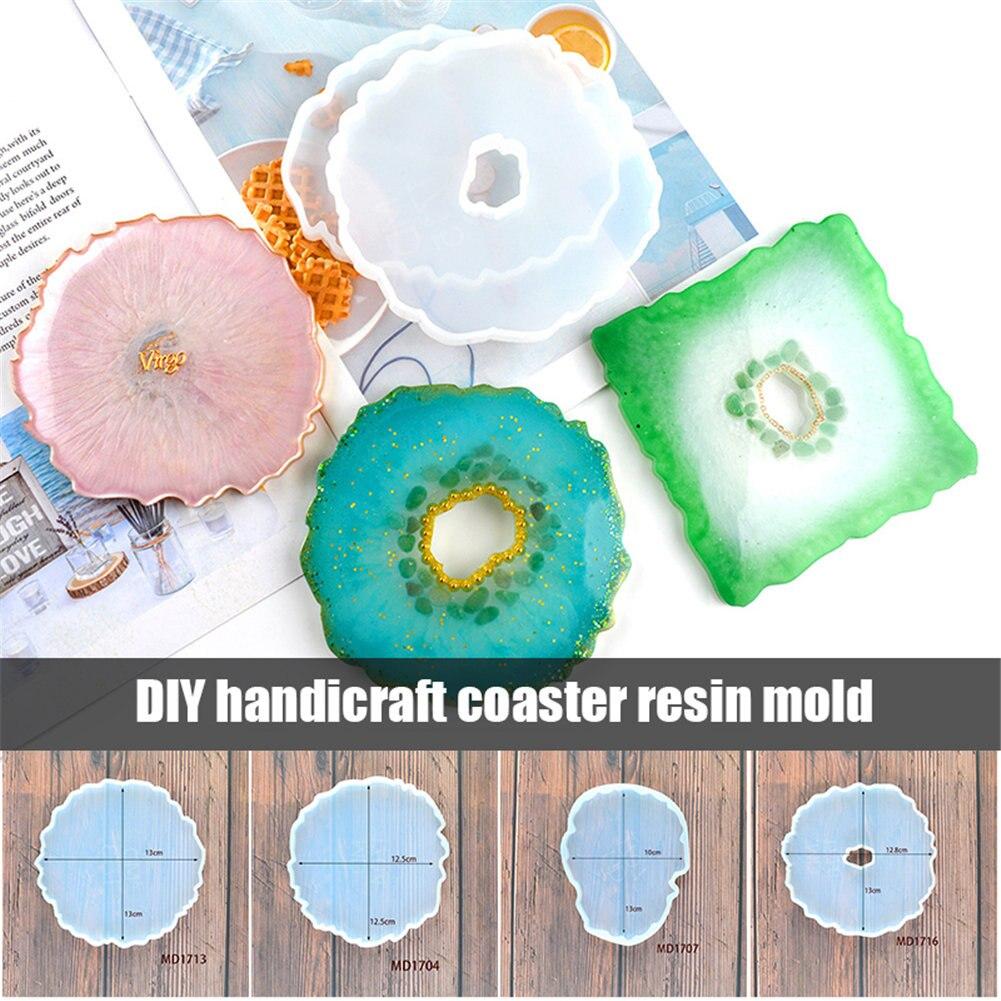 Posavasos de ágata, molde de fundición de resina, Epoxy de silicona para hacer joyas, molde de artesanía, herramientas MYDING