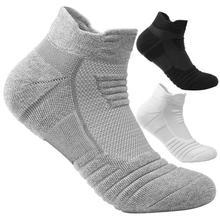 1 paire chaussettes de sport solide court épaissir course Football basket respirant chaussettes courtes pour hommes femmes Fitness entraînement chaussettes
