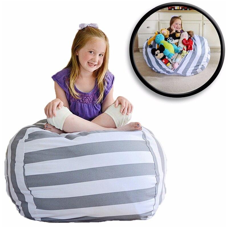 Grande capacidade de armazenamento saco de feijão stufferable animal brinquedo titular crianças organizador de pelúcia assento sofá cadeira suprimentos de armazenamento em casa
