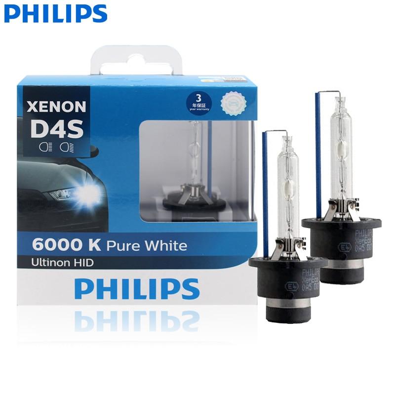 Philips Ultinon HID D4S 42402WXX2 35W 6000K مصباح أبيض بارد زينون مصباح أمامي للسيارة مصابيح على الطراز التلقائي (حزمة مزدوجة)