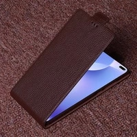 genuine leather flip case cover for xiaomi redmi k30 pro 5g vertical flip phone up and down leather cover phone case