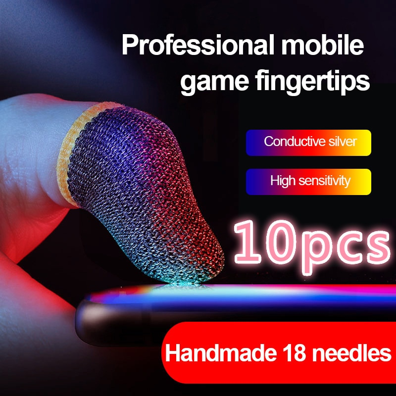 10pcs Mobile Game Fingertip Gloves Mobile Finger Sleeve TouchScreen Game Controller Sweatproof Glove