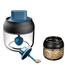 Butelka na przyprawy pudełko do przypraw kuchnia z etykietą przyprawa butelka do przechowywania słoik na miód szczotka do olejowania szkło sól pieprz pudełko na proszek kminek