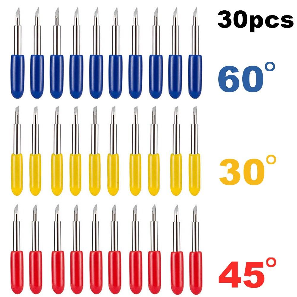 30 шт./лот 30 45 60 градусов Roland Cricut режущий плоттер виниловый резак лезвия ножей смещение