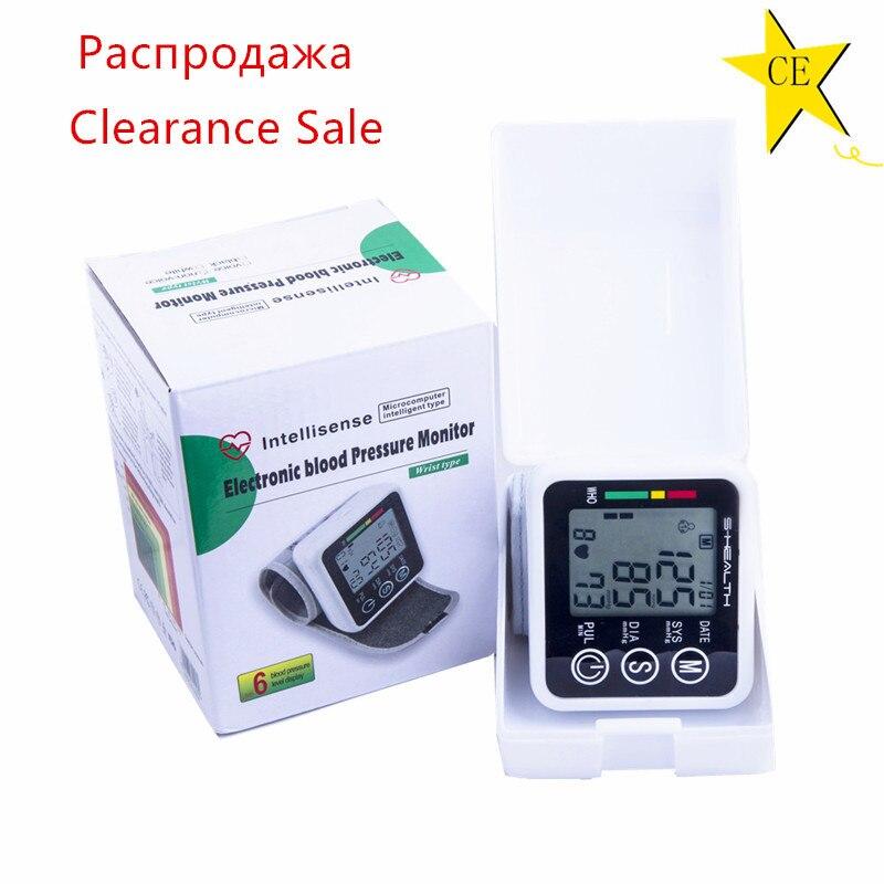 Liquidação navio de ru pulso automático digital medidor tonômetro monitor de pressão arterial para medição e taxa de pulso