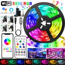 30M WIFI LED Strip Lights Bluetooth RGB Led light 5050 SMD flessibile 20M 25M impermeabile 2835 Tape Diode DC WIFI Control Adapter