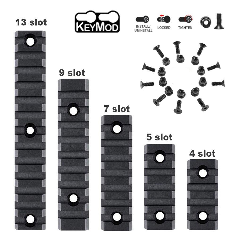 totrait 5 7 9 slots keymod Тактический Keymod Picatinny Rail, 4/5/7/9/13 слотов, 21 мм