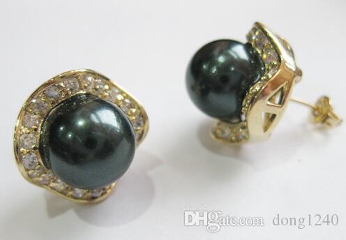 Venta al por mayor joyería de moda noble 8mm negro redondo de...