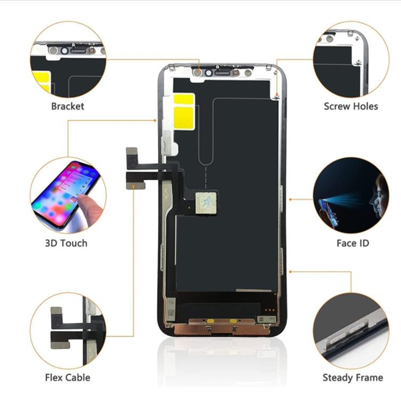 YWEWBJH AAA LCD For iPhone 11 Pro OLED Screen With 3D Touch Digitizer Assembly No Dead Pixel LCD Display Replacement Free Tools enlarge