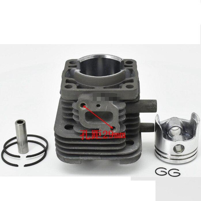 Th34 cilindro e pistão conjunto do grupo 37mm para kaaz kawasaki th34d 2 cycel 34cc aparador cortador de escova