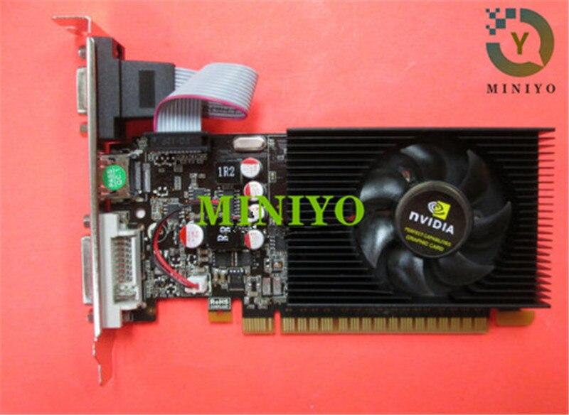Tarjeta de vídeo NVIDIA GeForce GT710 2G DDR3 DVI VGA HDMI PCI-E tarjeta gráfica de perfil bajo completo nuevo