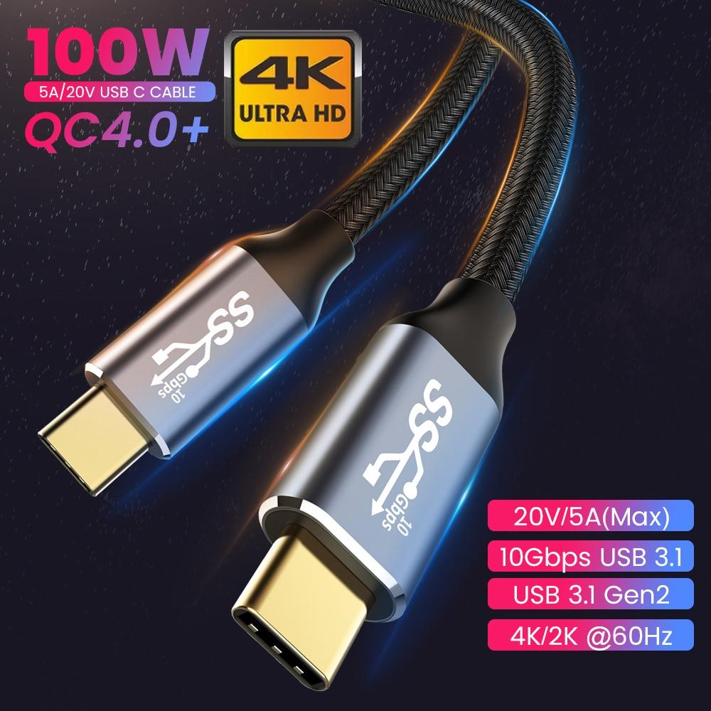 Cable USB C a tipo C para Macbook Pro, Cable de transmisión...