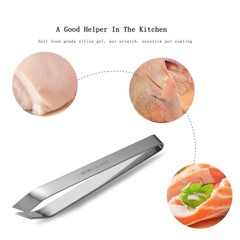 Kitchen Accessories 100% Stainless Steel Tweezers To Remove Fish Bones Kitchen Gadgets To Remove Pig Hair Kitchen Tools