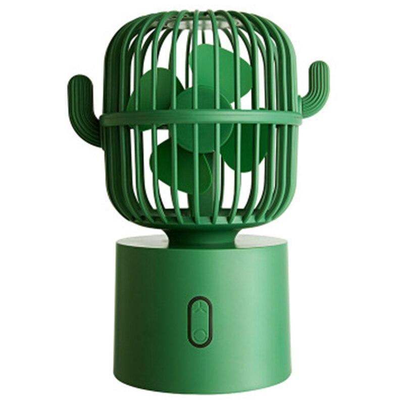 Mejores ofertas, ventilador USB, Enfriador de mesa portátil recargable, Mini ventiladores de refrigeración por aire silencioso de 3 velocidades para el hogar, portátil para coche, portátil, Verde