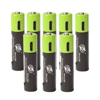 8pcs aaa rechargeable battery 1 5v 3a 600mah rechargeable battery usb rechargeable lithium polymer battery quick charging