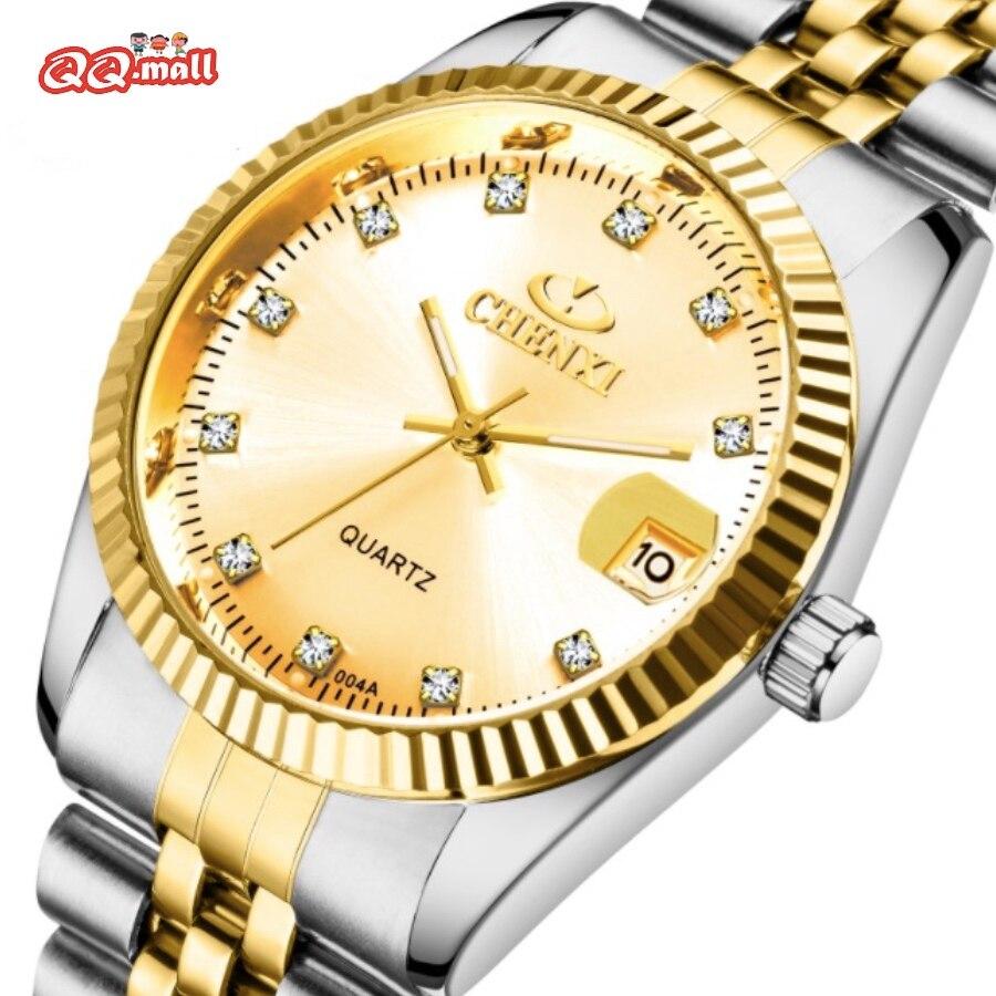 Chenxi Luxury Top Brand Watch For Men Women Couple Watches Diamond Full Steel Auto Date Calendar Wri
