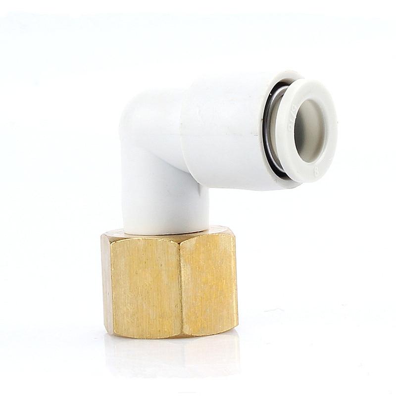 Junta neumática de inserción rápida Airtac con codo de tubo de tornillo interno de ángulo recto KQ2LF/KB2LF12-02 12-03 Junta neumática Q318