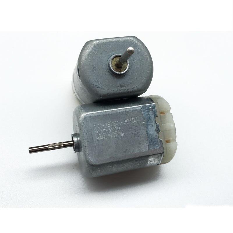 2 pces FC-280SC dc12v automóvel controle central do motor de bloqueio da porta do carro atuador retrátil motor espelho retrovisor