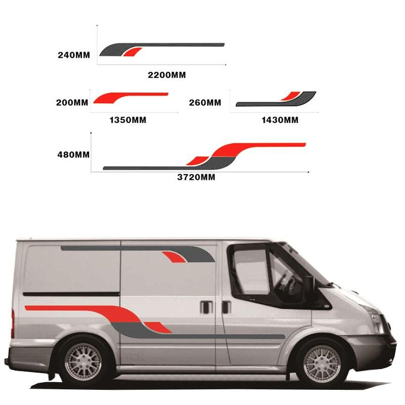 Motor Home Stripes Camper Horsebox Rv naklejka karawana naklejka graficzna