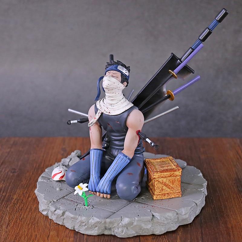 Anime Naruto GK Figur Momochi Zabuza Hatake Kakashi Geist Cut Breit Nirvana Donner PVC Sammlung Modell Spielzeug