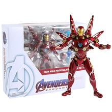 SHF Avengers Endgame Iron Man Mark L MK 50 Nano Weapon Set 2 PVC Action Figure Collectible Model Toy