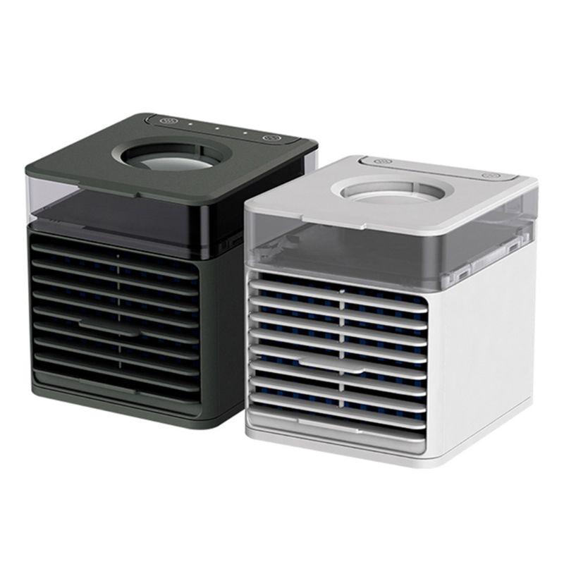 Purificador de ar portátil 3 em 1 usb, mini ventilação, espaço, condicionador