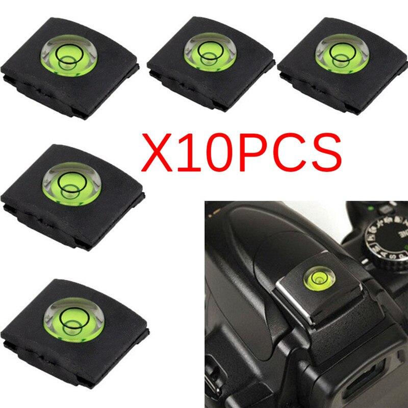 10 unids/lote zapato de burbuja cubierta de nivel tapa para Canon Nikon Pentax DSLR Cámara de la nave de la gota