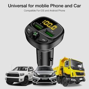 Автомобильное зарядное устройство Bluetooth QC 3,0 15 Вт, быстрая зарядка, оптовая продажа, FM-плеер
