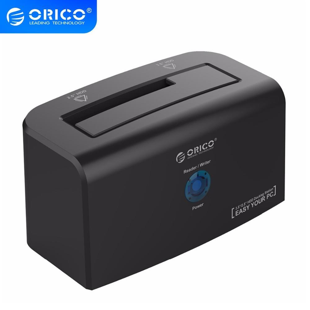 ORICO USB3.0 y eSATA soporte de estación de acoplamiento de disco duro de 10TB de almacenamiento disco duro de supervelocidad para 2,5 & 3,5 pulgadas HDD y SSD (8618SUS3)