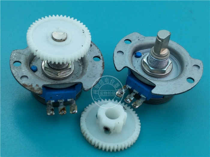 1 unids/lote utilizado para el armazón RVQ24YNC0305 20F B502 5K potenciómetro con engranaje 25MM X 3MM