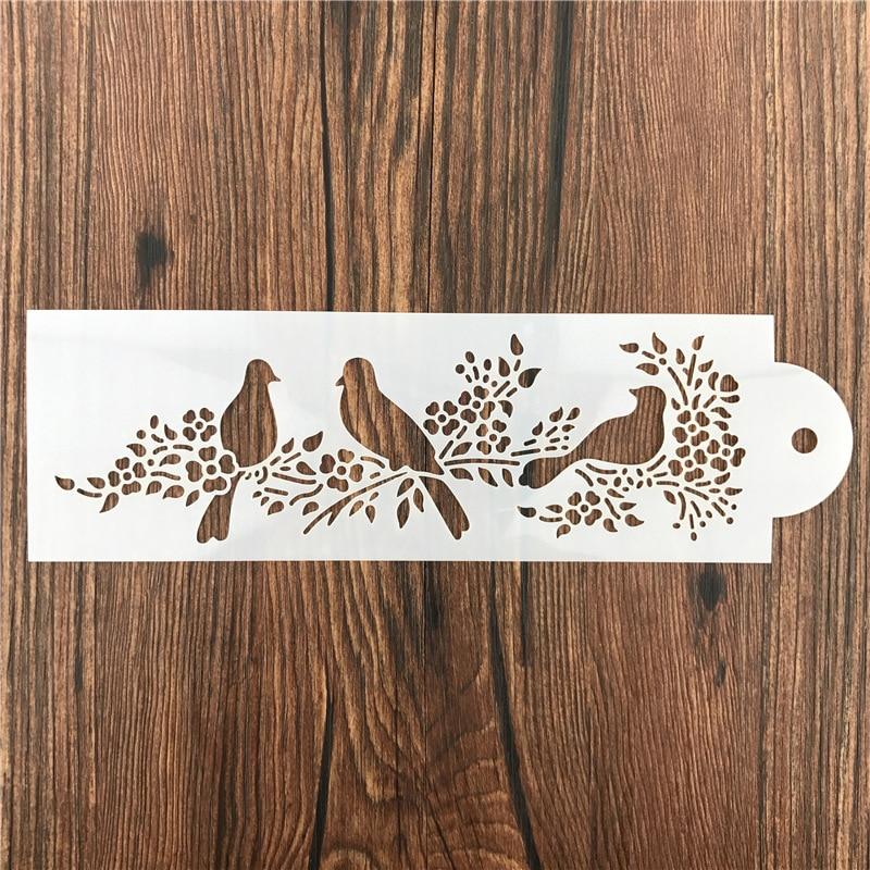 Animaux pie oiseau ferraille murs pochoir aérographe peinture décor pochoirs pour bricolage Scrapbooking Art Album journal intime timbre artisanat