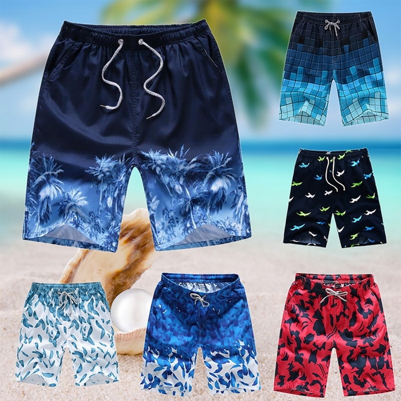 Dropshipping Summer Men's Board Casual Shorts Beach Brand Short Surfing Bermudas Masculina De Print Men Boardshorts Quick Dry