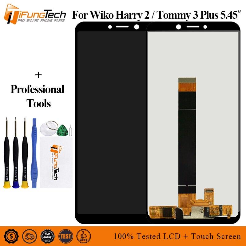Para Wiko Harry 2 pantalla LCD y montaje de digitalizador con pantalla táctil reemplazo para Wiko Tommy 3 plus LCD