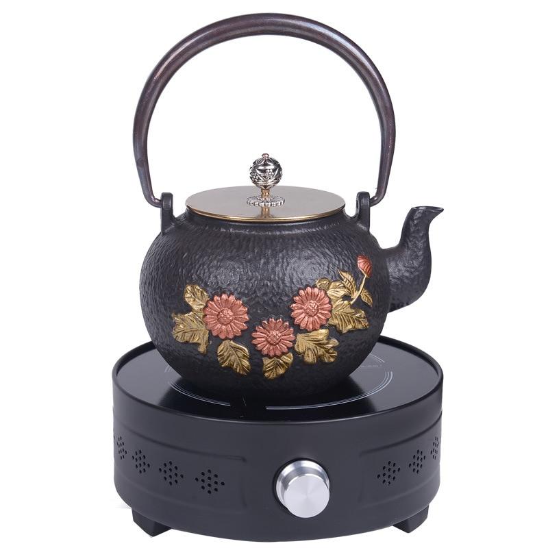 إبريق الشاي ، غلاية ، إبريق شاي الماء الساخن ، إبريق شاي حديد ، مجموعة هدايا ، طقم شاي الكونغ فو