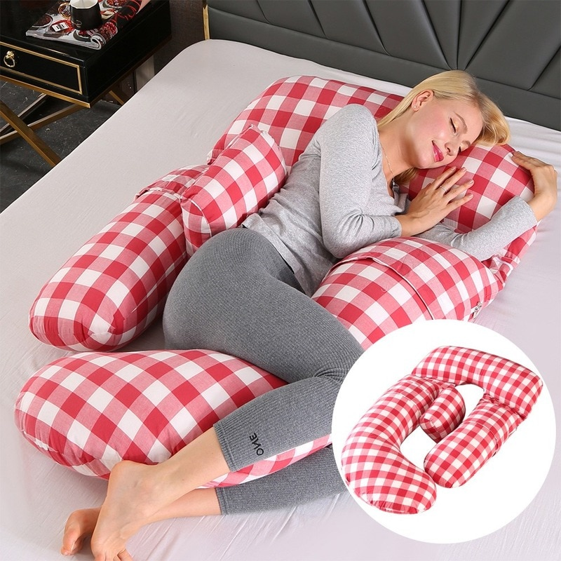 G Type Pregnant Woman Pillow Multifunctional Breastfeeding Pillow Supporting Abdomen and Waist Side Pillow