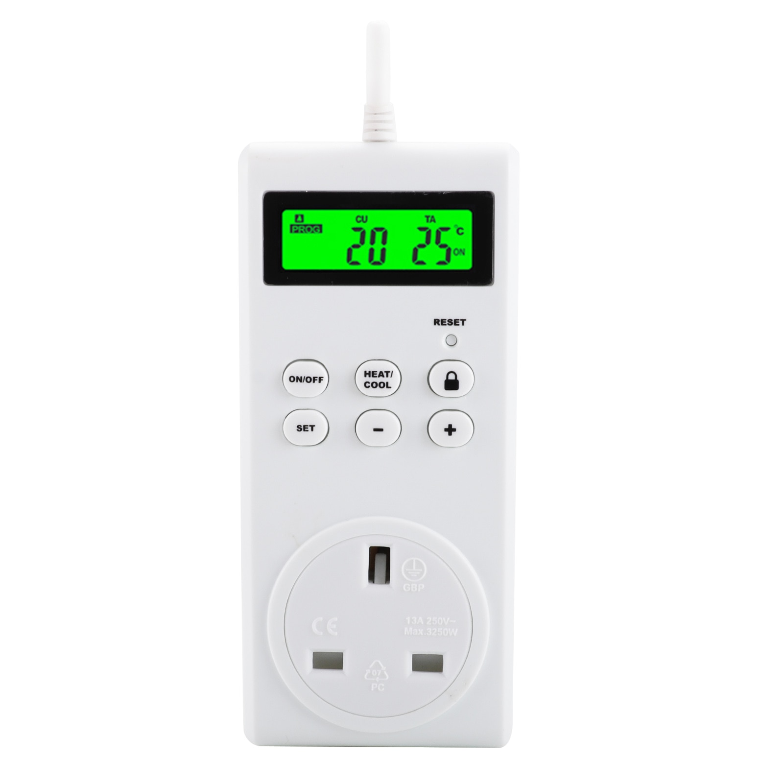 KKmoon المكونات في منظم حرارة قابل للبرمجة اللاسلكية ترموستات منفذ شاشة الكريستال السائل متحكم في درجة الحرارة لمبردات الغرفة وسخان