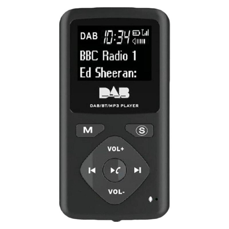 Лучшие предложения цифровое радио DAB/DAB Bluetooth 4,0, персональный карманный FM Мини Портативный радиоприемник, наушники MP3 Micro-USB для дома