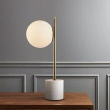 Lámpara de mesa redonda pequeña nórdica Estudio de dormitorio chica moderna creativa simple moderna lámpara redonda de noche Luna E14