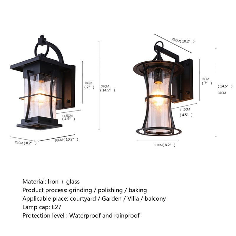 DLMH New Outdoor Wall Light Classical LED Sconces Lamp Waterproof IP65 Decorative For Home Porch Villa enlarge