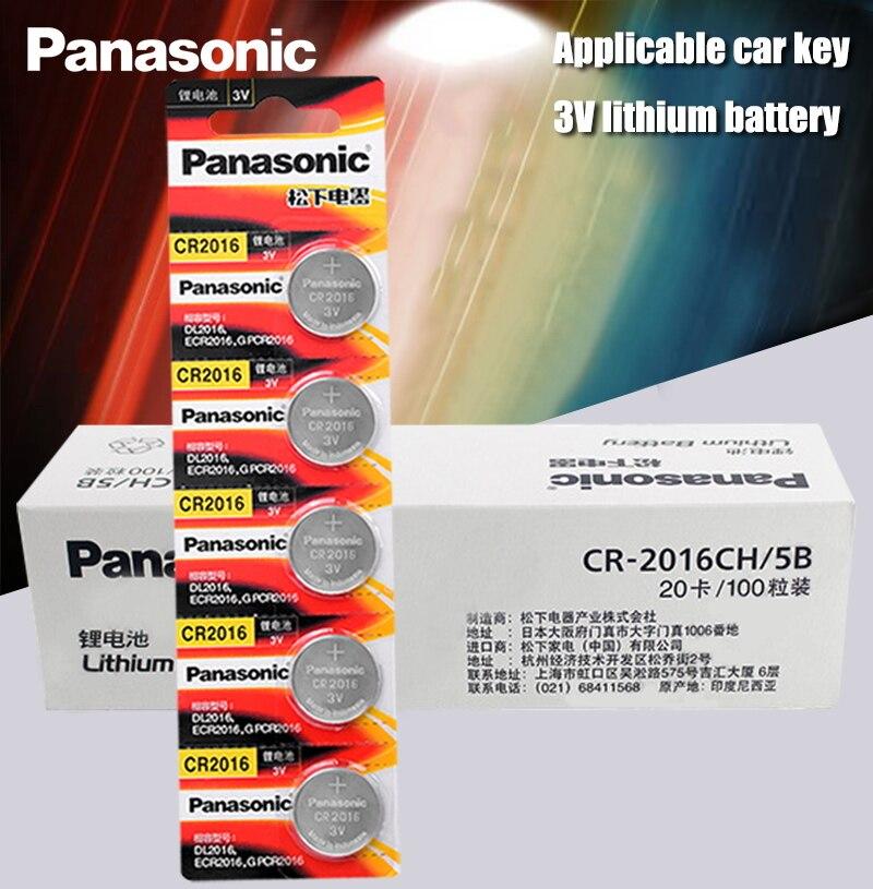 Panasonic Bateria De Lítio de Alta Qualidade 100 PÇS/LOTE 3V Botão Bateria de Relógio cr2016 Coin Baterias cr 2016 DL2016 ECR2016