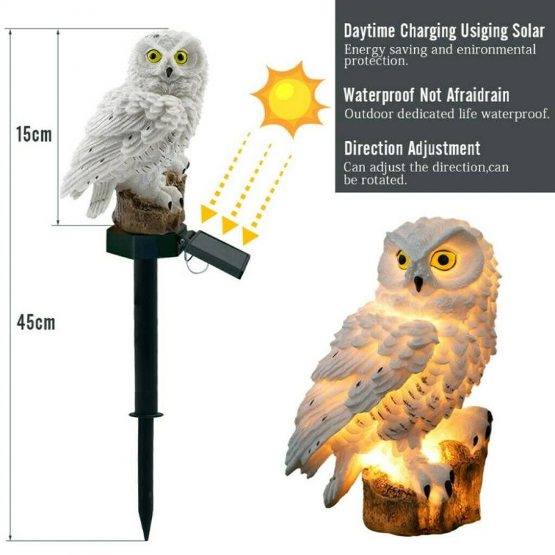 Solar Powered Garden LED Lights Owl Animal Pixie Lawn Ornament Waterproof Lamp Unique Christmas Lights Outdoor Solar Lamps enlarge