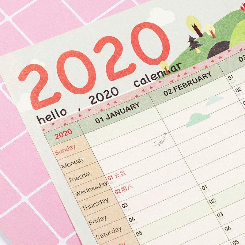1 шт., 2020 календарь, настенный календарь, 365 дней, календарь обратного отсчета, Новое поступление, для обучения, новый год, план, расписание, хит продаж