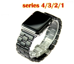Ceramic belt for Apple Watch Band SE 42 44 Link Bracelet Wristband for iwatch strap 38mm 40mm Series 6 5 4 3 2 1