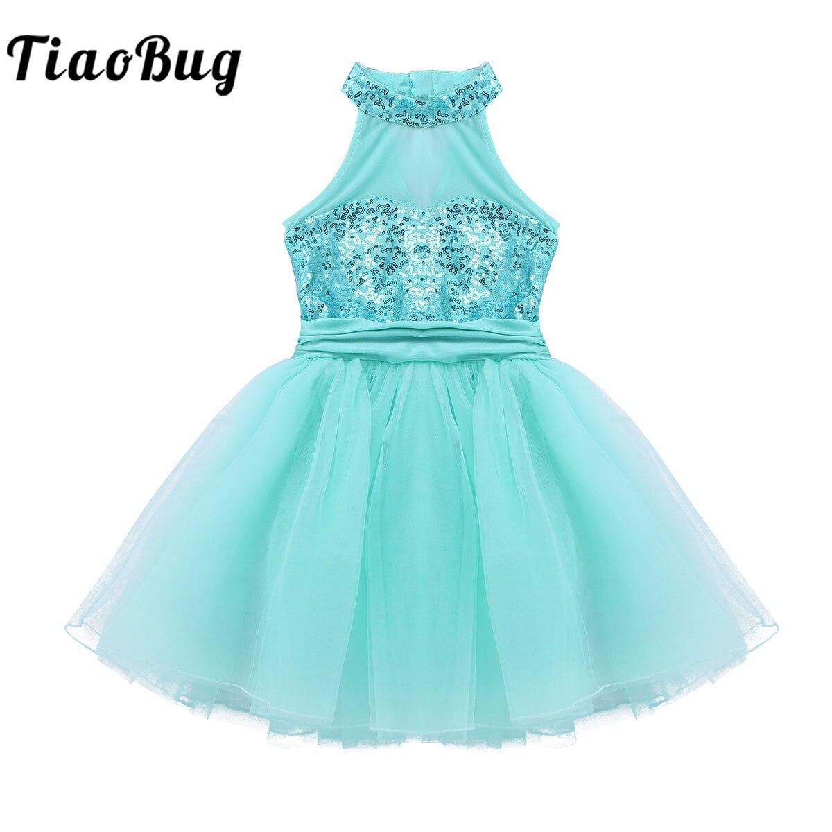 Для девочек балетное гимнастическое платье расшитое блестками для трико гимнастическое для балетов Туту платье, Одежда для танцев