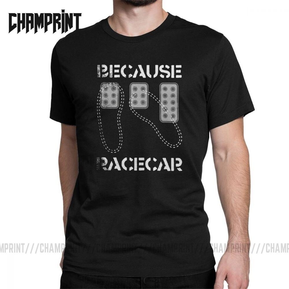 Camiseta de hombre de tres pedales de punta de talón porque carrera, ropa de algodón de ingeniero de arreglo de coche, camiseta increíble de manga corta, camisetas clásicas